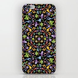 Terrific monsters posing for a colorful pattern design iPhone Skin