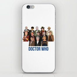 Doctor Who Through the Years iPhone Skin