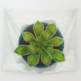 Succulent in pot Wall Tapestry