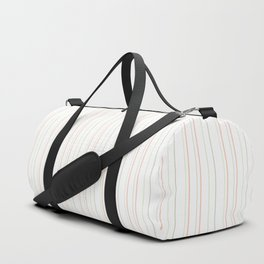 Modern geometrical pink coral green white stripes Duffle Bag