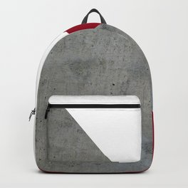 Concrete Burgundy Red White Backpack