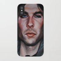 the vampire diaries iPhone & iPod Cases featuring Ian Somerhalder (Damon from Vampire Diaries) by Britanee LeeAnn Sickles