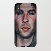 vampire diaries iPhone & iPod Cases featuring Ian Somerhalder (Damon from Vampire Diaries) by Britanee LeeAnn Sickles