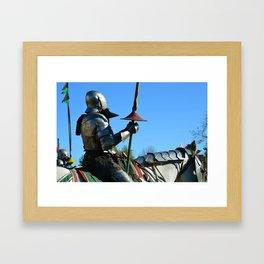 Jousting Horse - The Riders Framed Art Print