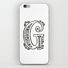g is for iPhone & iPod Skin