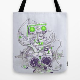 Hippy robot Tote Bag