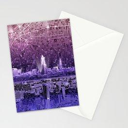 cleveland city skyline Stationery Cards