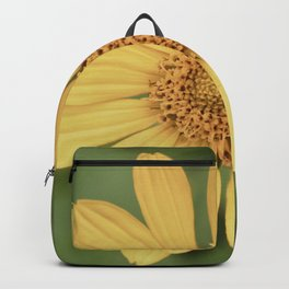Beautiful Yellow Vintage Flower Backpack