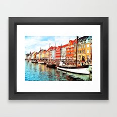 Copenhagen, Denmark Framed Art Print