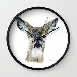 Doe Eyes by Teresa Thompson Wall Clock