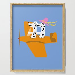 Airplane and Dalmatians Serving Tray
