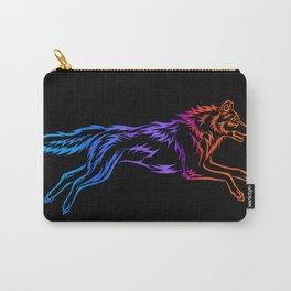Colorful Tribal Running Wolf Carry-All Pouch