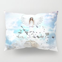 Archantael silver angel by GEN Z Pillow Sham
