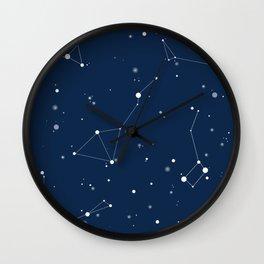 Navy Night Sky Wall Clock