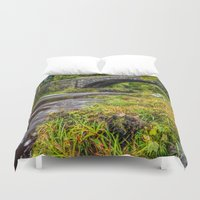 beaver Duvet Covers featuring Beaver Bridge by Adrian Evans