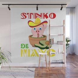Stinko De Mayo Guacamole Pig - Cinco De Mayo 2019 Wall Mural