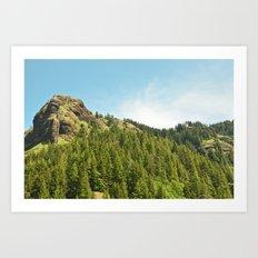Saddle Mountain Oregon Forest Volcano Woods Landscape Northwest Art Print