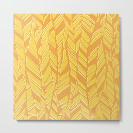 sunny feather texture Metal Print