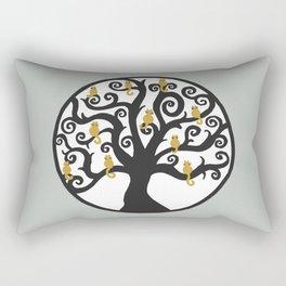 Cat Tree of Life Rectangular Pillow