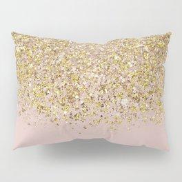 Pink and Gold Glitter Pillow Sham