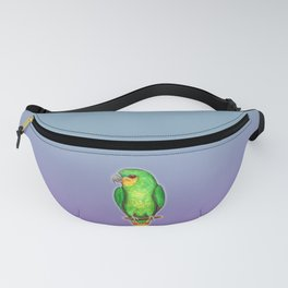 Orange winged amazon parrot Fanny Pack