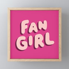 Fangirl in Pink Framed Mini Art Print