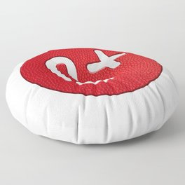 My Blood Type: Be positive Floor Pillow