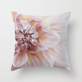 Blush Pink Dahlia, No. 1 Throw Pillow