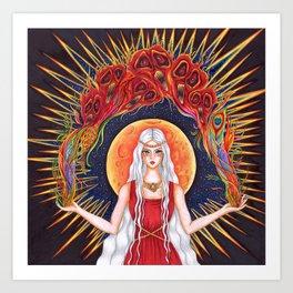 Moon Goddess Art Print