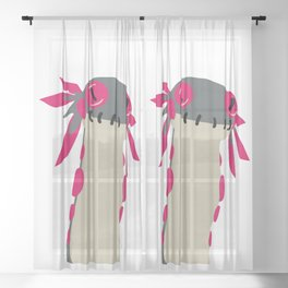 The Wiggle Worm from Monster Hunter World Sheer Curtain