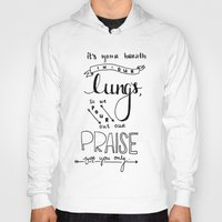 lungs Hoodies featuring LUNGS by Lex Bleile