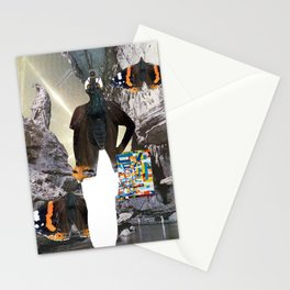 HuWayGo - collab collage Stationery Cards