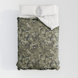 Camouflage pattern with CATS Comforters