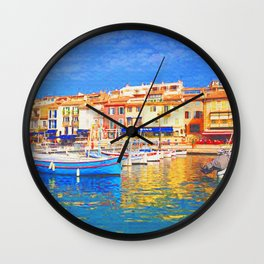 Spring in Cassis Wall Clock
