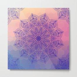 Mild Mandala Metal Print