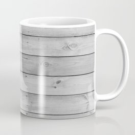 gray distressed stained painted wood board wall Coffee Mug