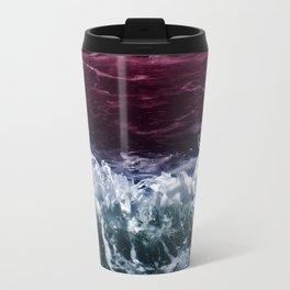 Abstract Ocean Waves Travel Mug