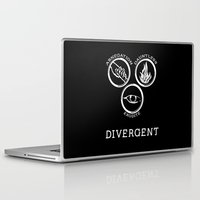 divergent Laptop & iPad Skins featuring Divergent (White) by Lunil