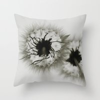 coconut wishes Throw Pillows featuring Wishes by Skye Zambrana