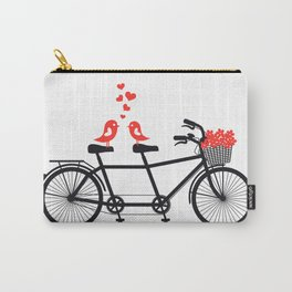 Cute birds on bicycle Carry-All Pouch