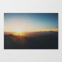 sunrise on Mt Woodson ... Canvas Print
