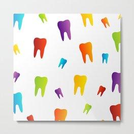 Colorful Sweet tooth Metal Print