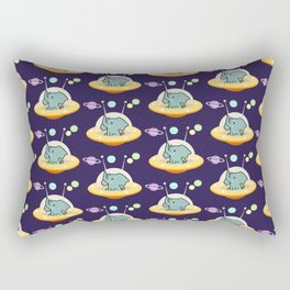 Pattern astronaut elephant: Galaxy mission Rectangular Pillow