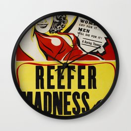 Vintage Reefer Madness Poster Wall Clock