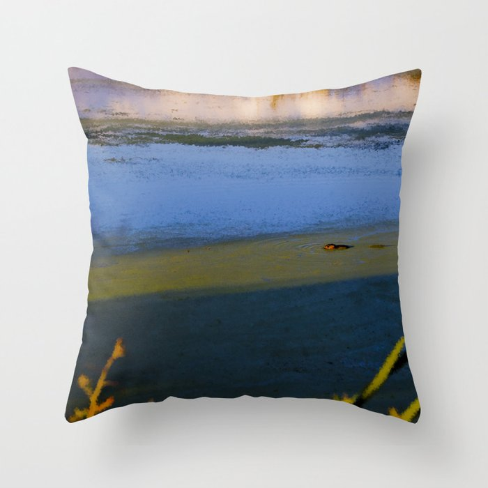 Pastel Muskrat  Throw Pillow