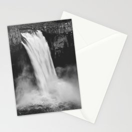 Palouse Falls Black and White Stationery Cards