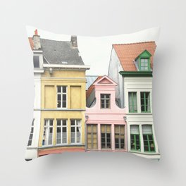 Gent Houses Throw Pillow