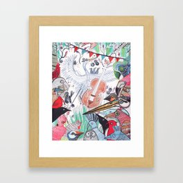 Wild Night at the Ornithology Club Framed Art Print