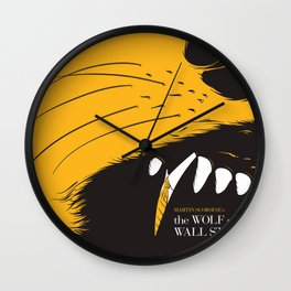 The Wolf of Wall Street | Fan Poster Design Wall Clock