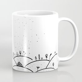 Landscape Doodle Art Illustration Coffee Mug